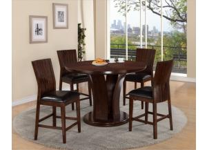 DARIA COUNTER TABLE WITH 4 CHAIRS,Crown Mark