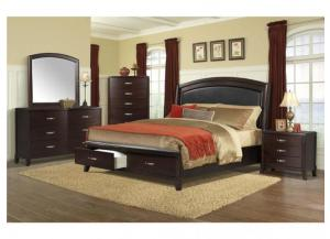 DELANEY QUEEN STORAGE BED, DRESSER, MIRROR AND NIGHTSTAND,Elements International