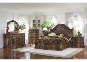 San Mateo King Bed, Dresser, Mirror and N.stand,PULASKI FURNITURE