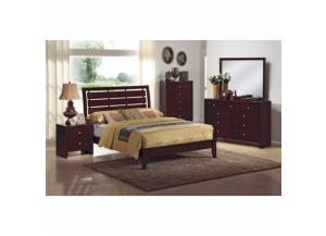Evan Twin Bed, Dresser, Mirror, Chest and Nightstand,Crown Mark