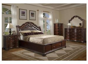 KING TABASCO STORAGE BED, DRESSER, MIRROR AND NIGHTSTAND,Elements International