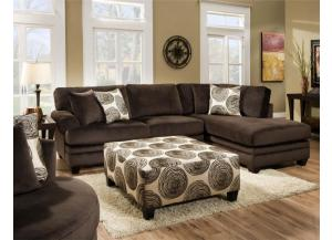 Groovy Chocolate Sectional,ALBANY FURNITURE INDUSTRIES