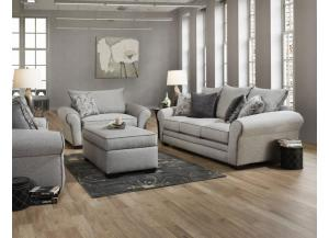 CONTEMPORARY GRAY SOFA AND LOVESEAT