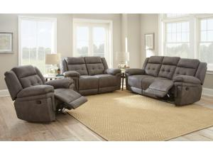 Gray Reclining Sofa and Loveseat