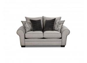 CONTEMPORARY GRAY LOVESEAT