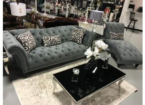 TWAIN SLATE SOFA, LOVE AND CHAISE