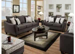 Flannel Seal Sofa and Loveseat